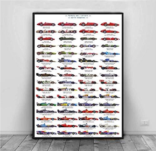Rompecabezas 1000 Piezas Montaje De Imagen Fórmula 1 Coche De Carreras Collage Azul Arte Vida para Adultos Juegos para Niños Juguetes Educativos Kd104Hz