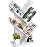 Small Tree Desktop Organizers , 5-TierTree OIffice Bookshelf, Book Storage Organizer Shelves Floor Standing Bookcase,for Books, CDs