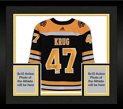 Framed Torey Krug Boston Bruins Autographed Black Adidas Authentic Jersey - Fanatics Authentic Certified