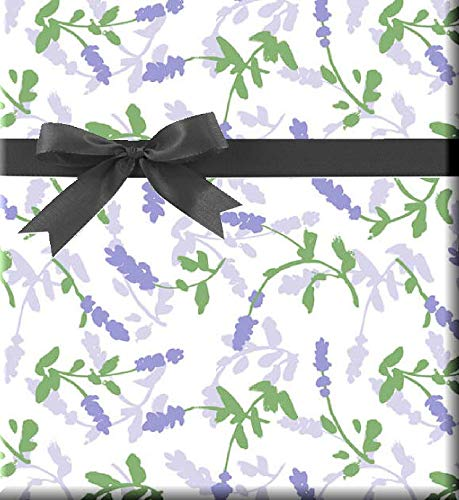 Celebration Lavender Flowers Gift Wrap Wrapping Paper-15ft Roll w. 10 Multi Color Gift Tags