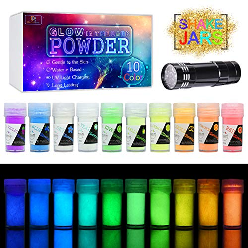 10 Color Glow In The Dark Pigment Powder