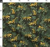 Leopard, Dschungel, Zoo, Safari Stoffe - Individuell