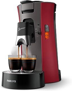 Philips Senseo Select CSA240/90 kapsüllü kahve makinesi (Crema Plus, kahve sertliği seçimi Plus, hafıza fonksiyonu) kırmızı
