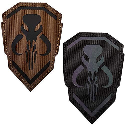 Parche reflectante infrarrojo infrarrojo Mandalorian Tactical Morale Emblema de Moral con cierre de gancho y lazo (Style4)