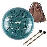 8 Tone 6 Zoll Zungentrommel Ätherische Trommel Stahl Zunge Schlagzeuger Scheibentrommel Percussion Instrument mit Trommelschlägeln...