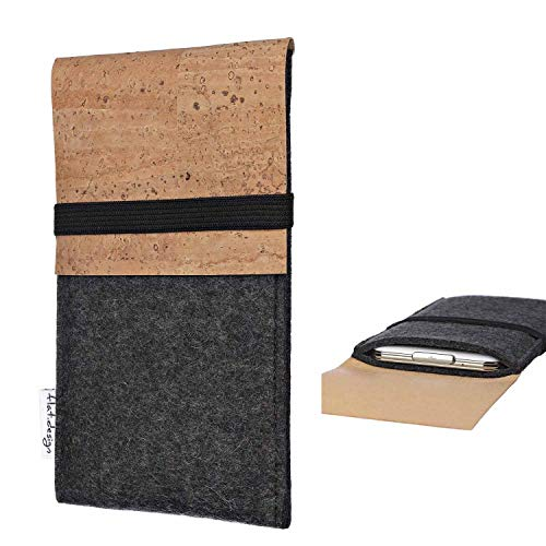 flat.design Handy Hülle SAGRES für Nubia Z17 Mini S Made in Germany Handytasche Filz Tasche Schutz Case fair Kork