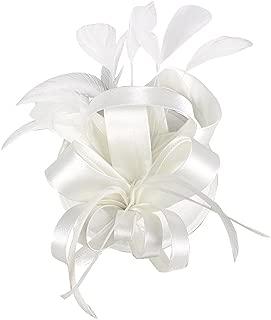 Wiwsi Bridal Flower Feather Hair Clips Fascinator Hairband Women Wedding Headwear