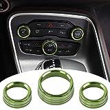 Voodonala - Perilla de botón para interruptor de aire acondicionado para Dodge Challenger Charger Chrysler 300 300s 2015-2019, para RAM 2013-2018 (aleación de aluminio verde)
