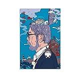Studio Ghibli Hayao Miyazaki Art 4k Hd Anime Comic Art Poster su tela e stampa artistica da parete, 20 x 30 cm