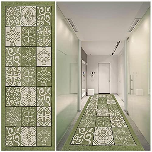Passatoia Cucina 80x400cm Cucina Corridore Corridoio Passatoia Facile da Pulire Moderno Geometrici per Corridoio Soggiorno Salotto Moderno, E