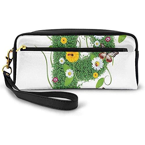 Mignon animé Printemps fraîcheur Jardin thème Feuillage d'été Papilio Ailes Petit Sac de Maquillage avec étui à Crayons à glissière 20 cm * 5,5 cm * 8,5 cm