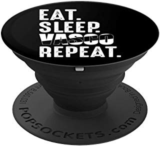 Vasco da Gama Funny Eat Sleep Repeat Soccer Brazil PopSockets Grip and Stand for Phones and Tablets