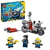 LEGO 75549 Minions El Origen de GRU, Persecucin en la Moto Imparable, Moto de Juguete con Mini Figuras de GRU, Stuart y Bob