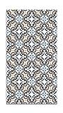 Panorama Alfombra Vinílica Hidráulico Oriental Azul 160x230 cm - Alfombra Cocina Vinilo - Alfombra Salón Antideslizante e Ignífuga - Alfombras Grandes - Alfombras PVC