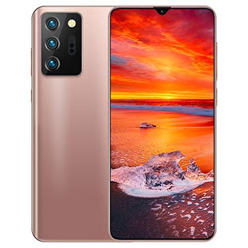 Teléfono Móvil, Note21U Android 10.0, Gran Pantalla de Caída de Agua de 6.6 Pulgadas, Llamadas Gratuitas con SIM de Teléfono Inteligente 5G Desbloqueado, Cámaras Duales de 18MP+48MP, 12GB+512GB