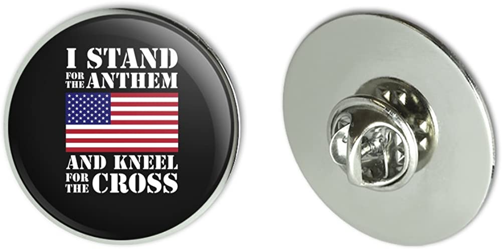 I Stand For The Flag Kneel Cross USA American Flag Patriotic Metal 1.1