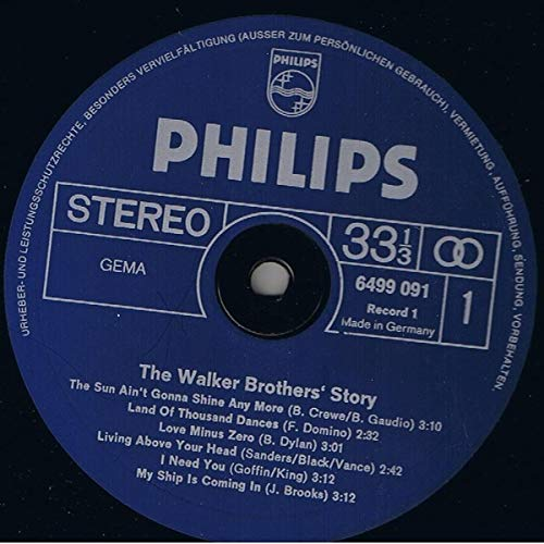 Walker Brothers, The - The Walker Brothers Story - Philips - 6640 004