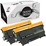 Squuido 2 cartuchos de tóner TN2220 TN2010 compatibles para Brother HL-2130 HL-2132 HL-2135 HL-2220 HL-2230 HL-2240 2240D 2250DN 2270DW DCP-7055 7055W 7070DW MFC-7460DN   Alto rendimiento 2600 páginas