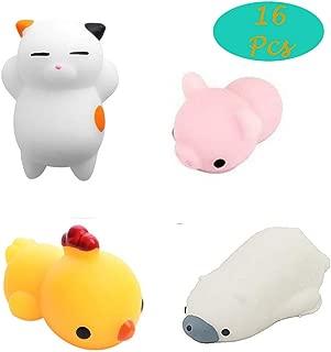 VITTO0819 Mochi Squishies Toys, 16 Pcs Mini Mochi Squishy Animal Toys Kawaii Halloween Party Favors Toys for Kids Boys Girls Stress Reliever Toys