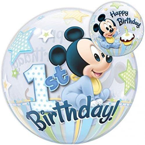 Qualatex 12864 Mickey & Friends Ballon en latex pour premier anniversaire Motif Mickey Mouse 55,9 cm