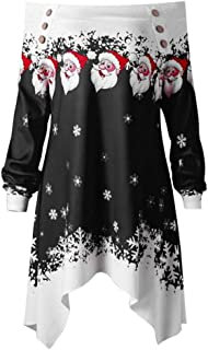 Christmas Clearance Women Blouse COPPEN Zipper Dots Print Tops Hooded Sweatshirt Pullover T-Shirt