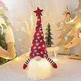 WREWING - Decorazione natalizia in peluche, senza viso, per bambole luminose, alimentata a batteria, 41 x 20 cm, colore: Rosso