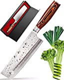 Vegetable Knife - Japanese Chef Vegetable Knife - Vegetable Cleaver - Usuba Asian Knife - Kitchen Chef Knife - High Carbon Stainless Steel Pro Japanese Cleaver Knife - Best Gift in Stylish Gift Box