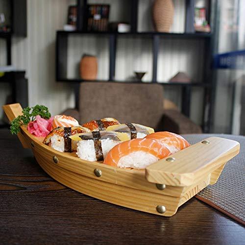 Barca Per Sushi In Legno, Piatto Da Barca Per Vassoio Da Portata Di Sushi Per Ristorante O Casa, Vassoio Per Piatto Da Portata Di Sushi Giapponese Sashimi, Piatto Di Cibo Per Feste Creativo