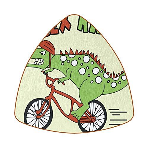 T Rex Rider Dinosaur Juego de 6 Posavasos para Bebidas para el hogar, Taza, Botella, Taza, café, Cerveza