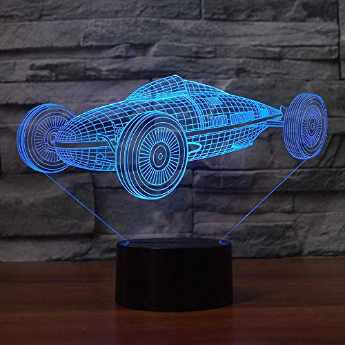 3D-Illusionslampe - Lámpara de techo (7 unidades, compatible con USB, compatible con USB)