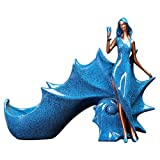 XOKIMI Creative Retro Resin Wine Rack Statues for Decoration Beauty Girl Europe Sculpture Home Decoration Modern Home Decor Figurine Artwork Collectibles Wine Rack