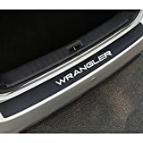 Coche Fibra de Carbono Protector de Parachoques Trasero, para Jeep Wrangler Maletero Placa del Umbral Pegatinas Antirrayas Tira de Protección Accesorios
