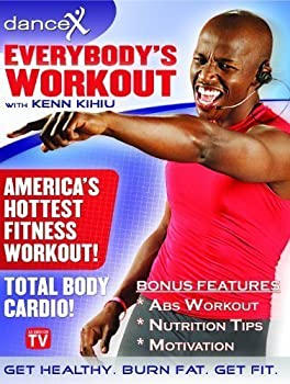DanceX  Fun Total Body Cardio Fitness DVD - Everybody s Workout Home Exercise DVD with FREE Bonus Content - As Seen On TV - Dance to Lose Weight Workout DVD - Get Healthy Now - Safe for All Ages