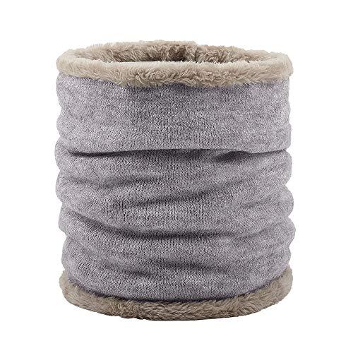 Unisex Strickschal Dicker, weicher Baumwoll-Strickschal Winddicht und warm im Winter Wollfutter, Outdoor Sportski,03,FreeSize
