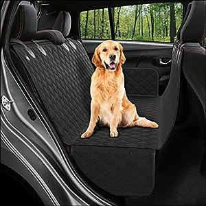buyinhouse Pet Seat Proof Covers Dog Seat Covers for 2007-2017 Jeep Wrangler JK 4-Door 600D Oxford Hypoallergenic Odorless