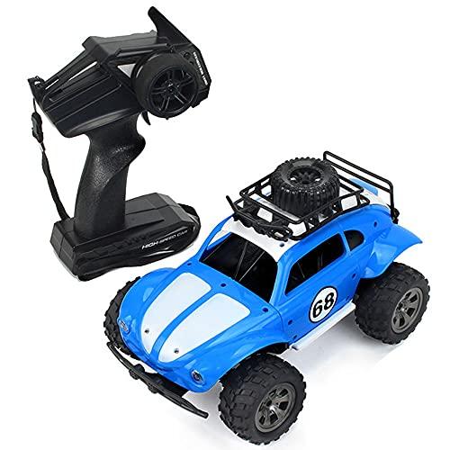 SZHANG Coche De Juguete De Control Remoto Todoterreno De Alta Velocidad De 2.4GHZ Escala 1/18 Escalada 45 ° Coche RC 4WD Material ABS Recargable RC Buggy Niños