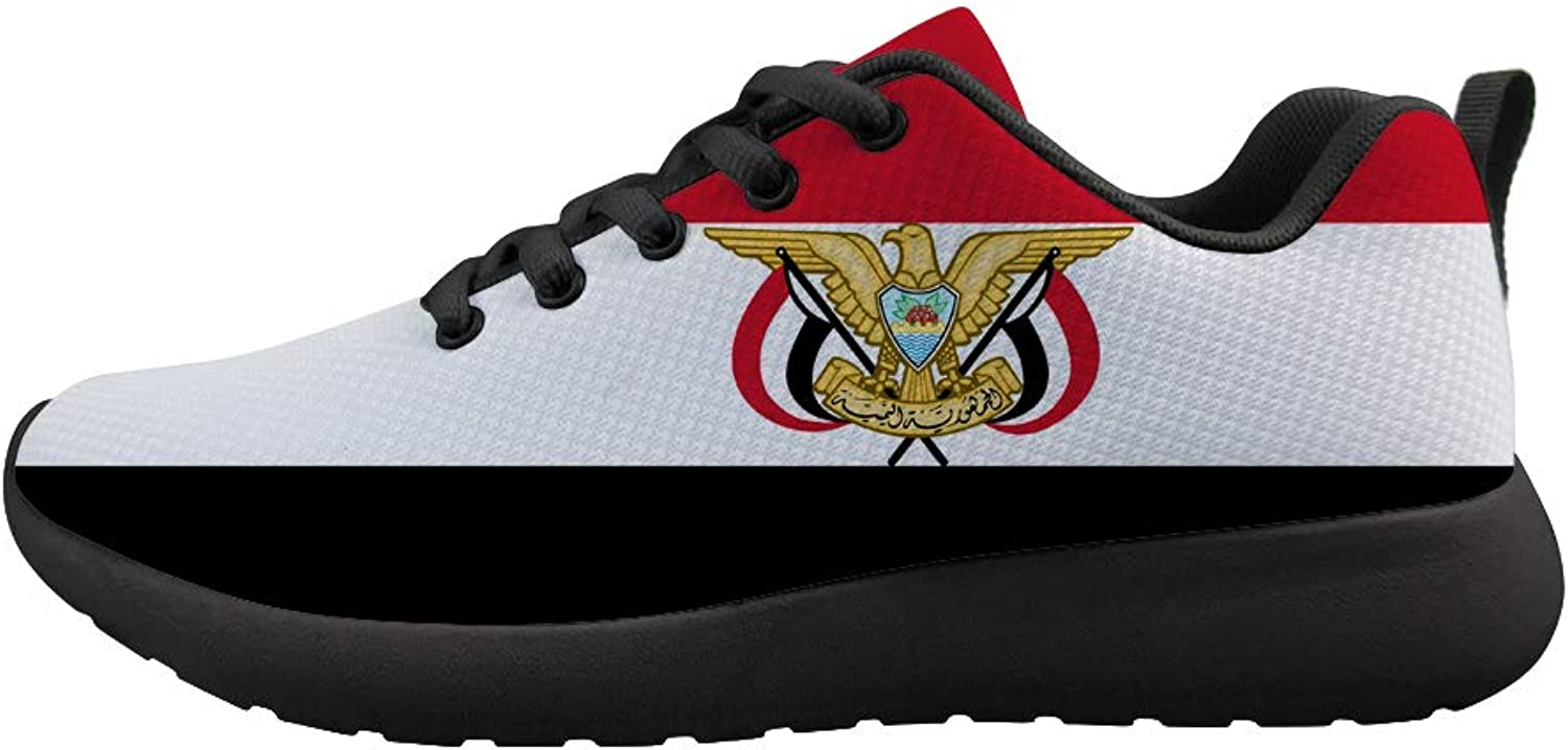 Owaheson Cushioning Sneaker Trail Running shoes Mens Womens Yemen Flag National Emblem