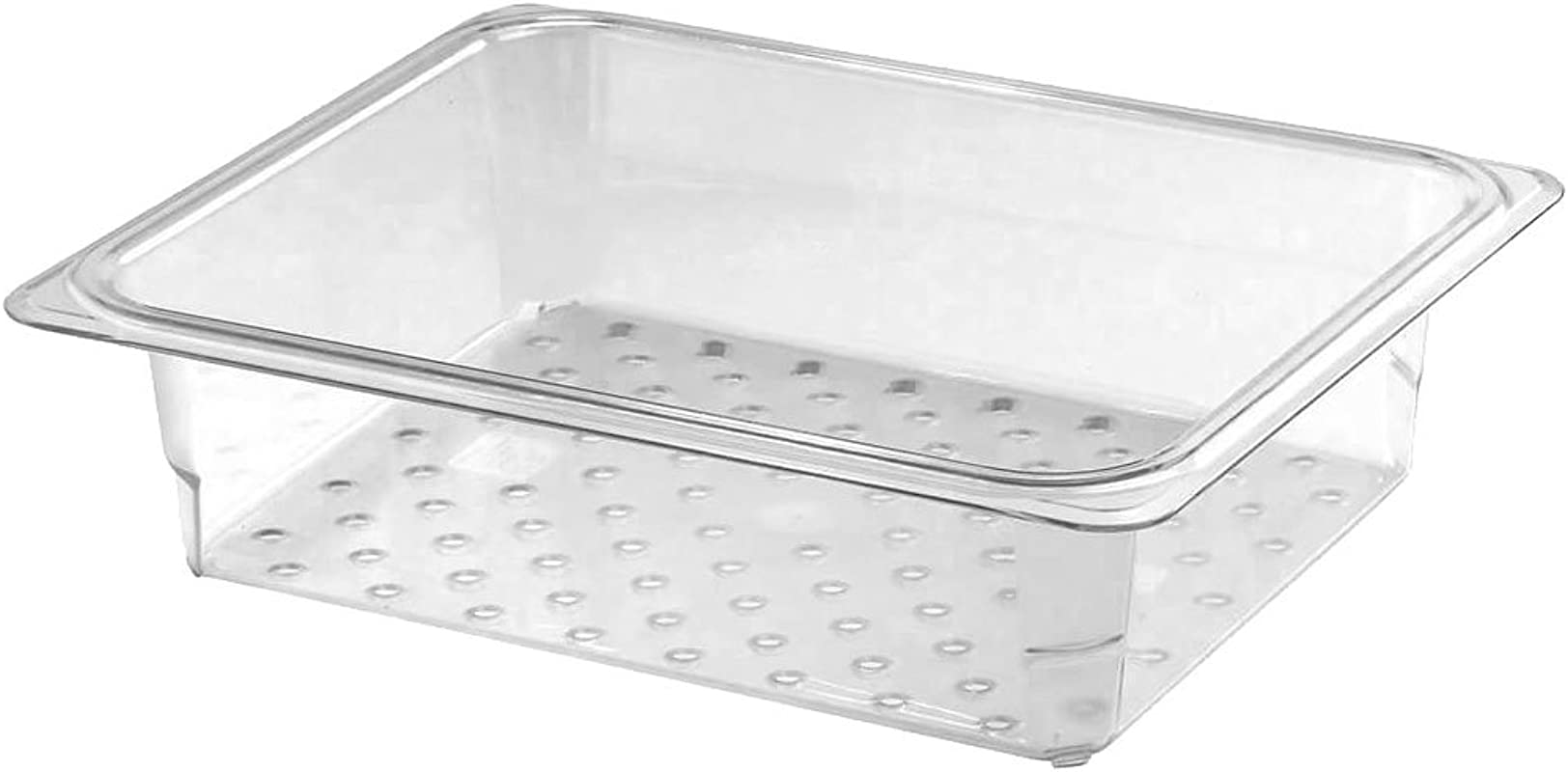 Cambro 23CLRCW135 Clear Colander Food Pan 1 2 Size 3 Deep