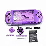 Full Shell Housing Case Cover with Buttons Kit Set For Sony PSP3000 PSP 3000 3001 3002 3003 3004 Series Replacement - Purple