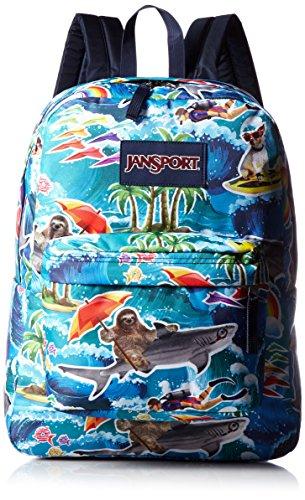 Jansport Superbreak Backpack Multi Wet Sloth