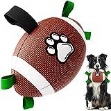 Hundespielzeug-Fußball, HETOO Interactive Dog Toys für Tauziehen, Dog Tug Toy, Hundewasserspielzeug, Durable Dog Balls für kleine und mittlere Hunde