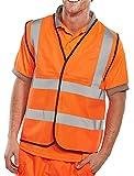 BSeen EN471 omniesfera chaleco reflectante, Color Naranja, 3XL