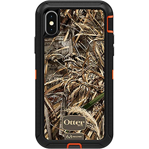 OtterBox Defender Series Case for iPhone X & iPhone Xs (ONLY), Case Only - Bulk Packaging - (Blaze Orange/Black/MAX 5 CAMO)