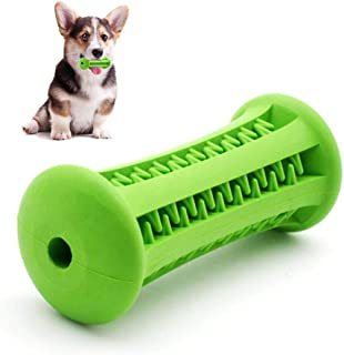 Hamkaw Dog Chew Toy Teeth Cleaner Nontoxic Bite Resistant Natural Rubber Pet Chew Toy Bone Dental Care Effective Teething Stick for Dogs Puppy Pets Oral Care (Green)