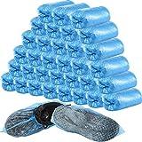 400 Piezas (200 pares) cubiertas desechables para botas y zapatos para piso, alfombra, protectores de zapatos antideslizantes duraderos (Azul)