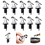 10 PCS Oil Pour Spouts, Olive Oil Vinegar Wine Dispenser with Leak-Proof Cap,Oil Bottle Stopper for Kitchen and Bar