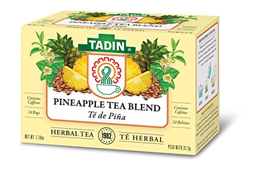 Tadin Herb and Tea Pineapple Tea Blend, Contains Caffeine, 24 Count,Pack of 6