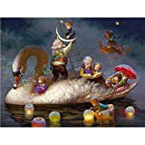 Diamante Pintura 5D Taladro Completo Pareja Vieja Y Bebé Diy Kit De Mosaico De Punto De Cruz 3D Decoración Para El Hogar Regalo De Navidad,20X30cm