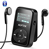 AGPTEK A26TB 8GB Bluetooth 4.0 MP3 Player, Clip Sport Hi-Fi Sound Music Player