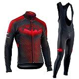 Hplights Maillot Ciclismo Hombre Ropa Camiseta Jersey Bicicleta MTB con Mangas Largas para Entretiempo Y Invierno,A,M